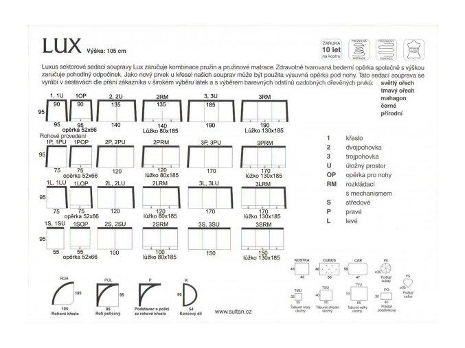 Sedací souprava Lux