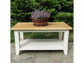 Konferenční stolek s dubovou deskou